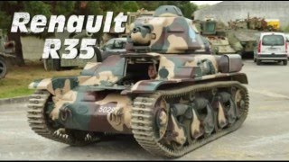 Zapętlaj Driving the french tank Renault R35 | Alain Le Pape