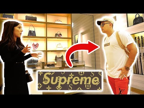 WEARING FAKE SUPREME LOUIS VUITTON TO THE LOUIS VUITTON STORE!! GONE WRONG!!