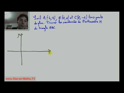 ligne x y orthonorme
