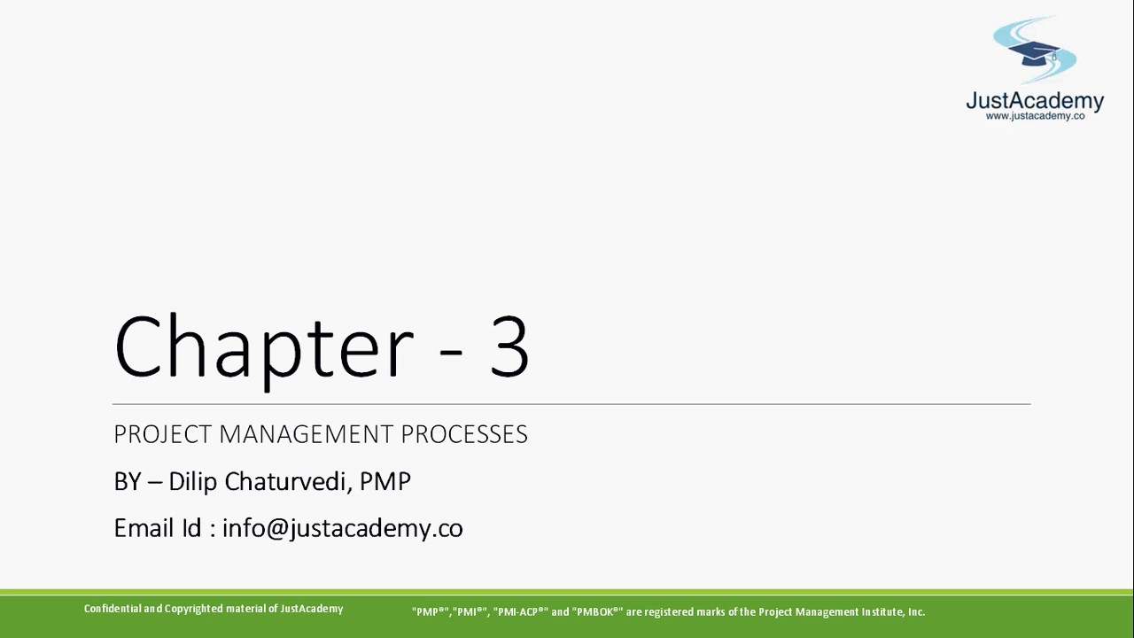 Pmp Chapter 3 Project Management Processes What Are Different