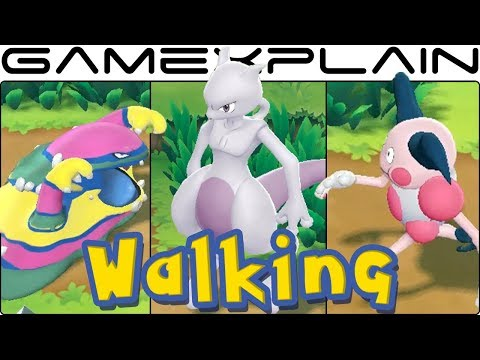 Pokémon Lets Go Pikachu & Eevee  All Walking & Running Animations!