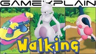 Pokémon Let's Go Pikachu & Eevee - All Walking & Running Animations!