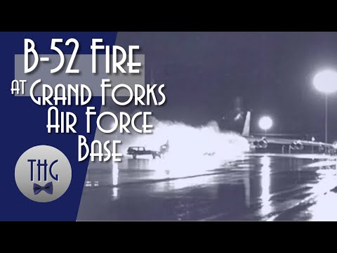 B-52 Fire At Grand Forks Air Force Base