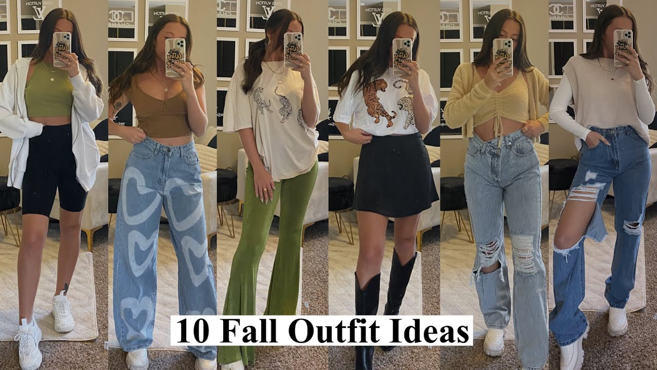 Casual Fall Outfits 2021 || Fall Outfit Ideas, Back to School Outfit Ideas 2021 featuring Dossier