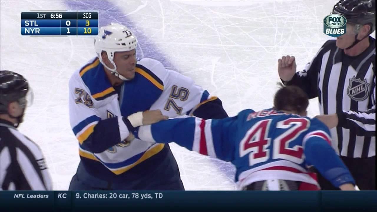 cheaper fff15 89c33 Dylan McIlrath vs Ryan Reaves fight. St. Louis Blues vs NY Rangers Nov 3  2014 NHL
