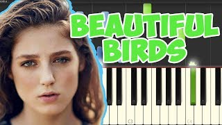 Passenger | Beautiful Birds feat. BIRDY (Piano Tutorial Synthesia)