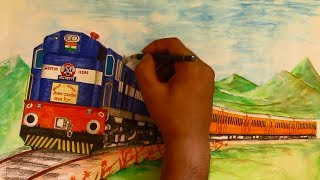 TEJAS EXPRESS with twin Kalyan WDM3D Sketching
