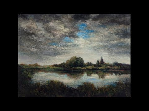 Afternoon Clouds 12×16 Tonalist Landscape Oil Painting Demonstration