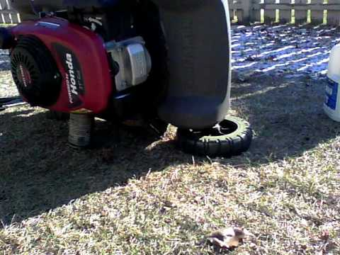 honda mower oil change youtube