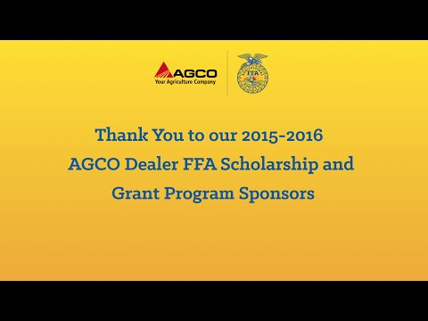 Thank You AGCO Dealers