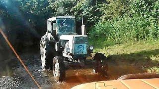 """█ По бездорожью. """"Трактор вездеход """", река Чардым.  Ч-4. Г. проходимое место, по внедорожью ."""