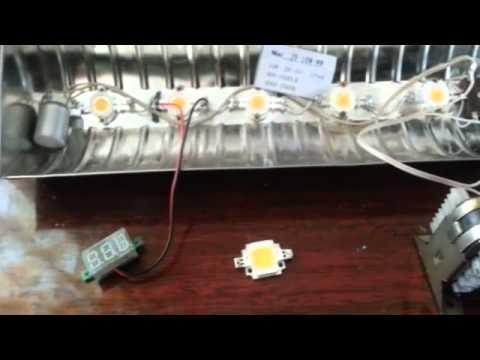 видео: Светодиодный прожектор самоделка