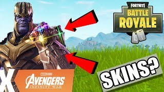 AVENGERS SKINS COMING TO FORTNITE BATTLE ROYALE!? AVENGERS INFINITY WAR UPDATE IN FORTNITE!