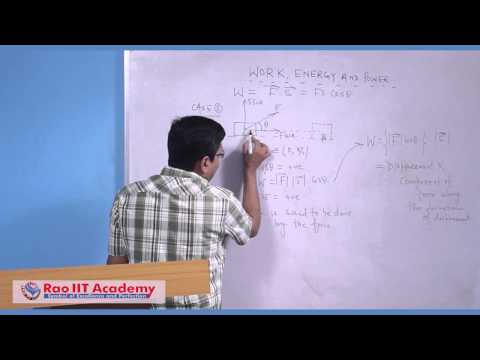Work, Energy & Power Part 1 - IIT JEE Main and Advanced Physics Video Lecture [RAO IIT ACADEMY]