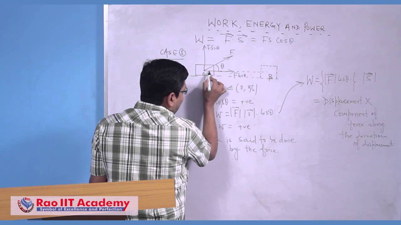 Work energy power part 1 iit jee main and advanced physics work energy power part 1 iit jee main and advanced physics video lecture rao iit academy youtube biocorpaavc Gallery
