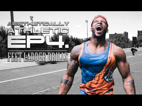 AESTHETICALLY ATHLETIC EP4: How to do Quick Feet Ladder Drill | TERRON BECKHAM