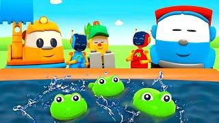 Bebek şarkıları. Leo ve 5 benekli kurbağa! Çocuklar için çizgi film