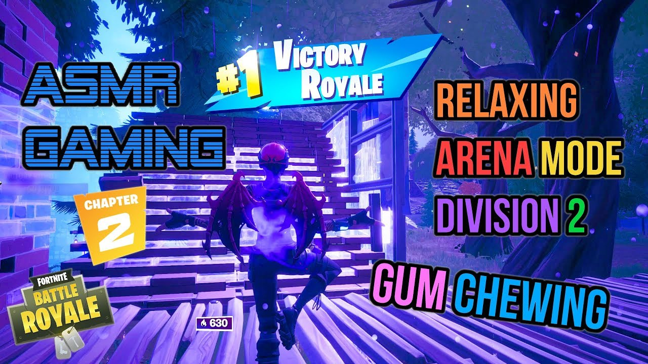 ASMR Gaming | Fortnite Relaxing Arena Mode Division 2 Gum Chewing ????????Controller Sounds + Whispe