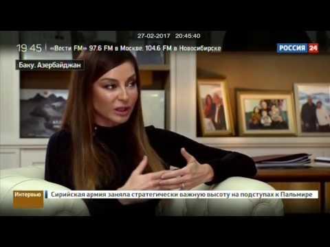 """""""Rossiya 24"""" telekanalı - Birinci vitse-prezidenti Mehriban Əliyeva"""
