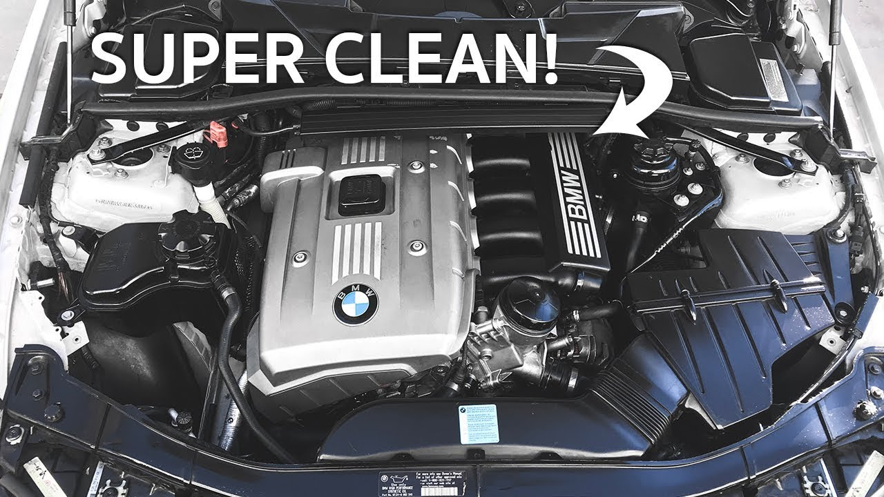 how to detail your bmw engine bay! - youtube  youtube