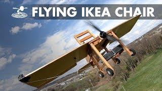 CHAIRPLANE! We made an IKEA chair fly!