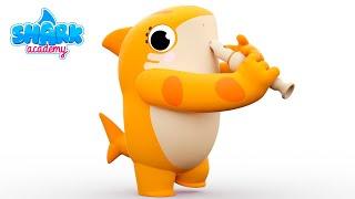 Shark Academy - Ants go marching with Sharks - Baby Shark Nursery Rhymes for Children