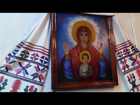Мироточит икона Курской Божьей Матери. Любостань