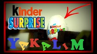 Deney  kinder sürpriz yakma  EXPERIMENT - GAS TORCH VS Kinder Surprise