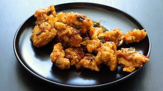 Spicy Garlic Fried Chicken : 깐…