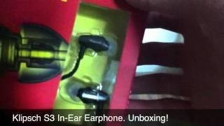 Video Klipsch S3 Unboxing | In-Ear Earphones download MP3, 3GP, MP4, WEBM, AVI, FLV Juli 2018