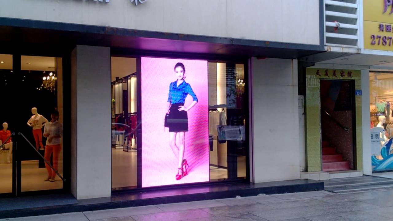 Big Screen In Fashion Store