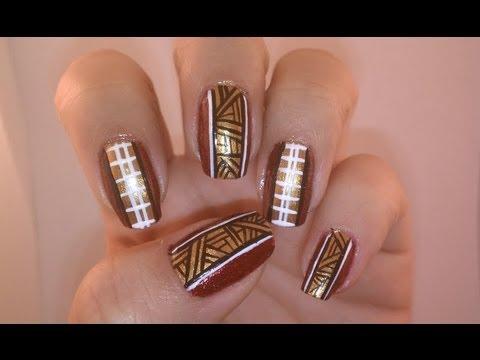 San Franciso 49ers Super Bowl Nails