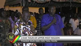 President Tours Upper West Region (Tumu & Gwollu)