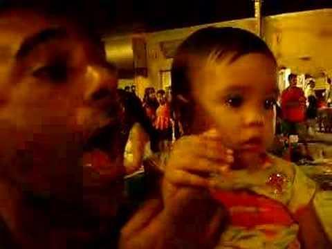 Marcos Queiroz com sua filha Mariana em Quixadá