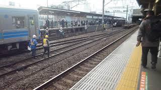 小田原駅伊豆箱根鉄道5000系甲種鉄道輸送入れ替え風景2019 1 10P 4