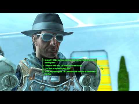 Fallout 4 Speaking to Father, When Destroying the Institute (Passing Speech Checks)