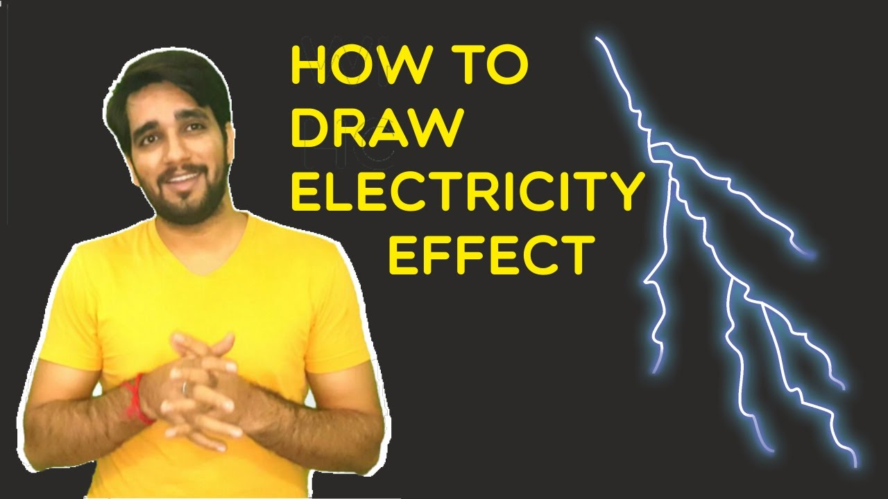 How to draw electricity effect ? - YouTube