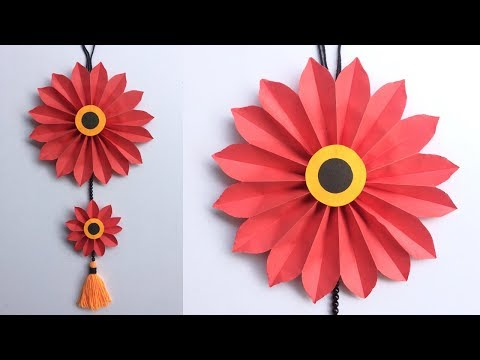 DIY Easy Paper Flower Wall Hanging Decoration // DIY Room Decor Crafts || DIY Projects // #DotsDIY