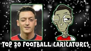 TOP 20 FOOTBALLER CARICATURES! Vote for your favourite! (Day 14 Football Advent Calendar)