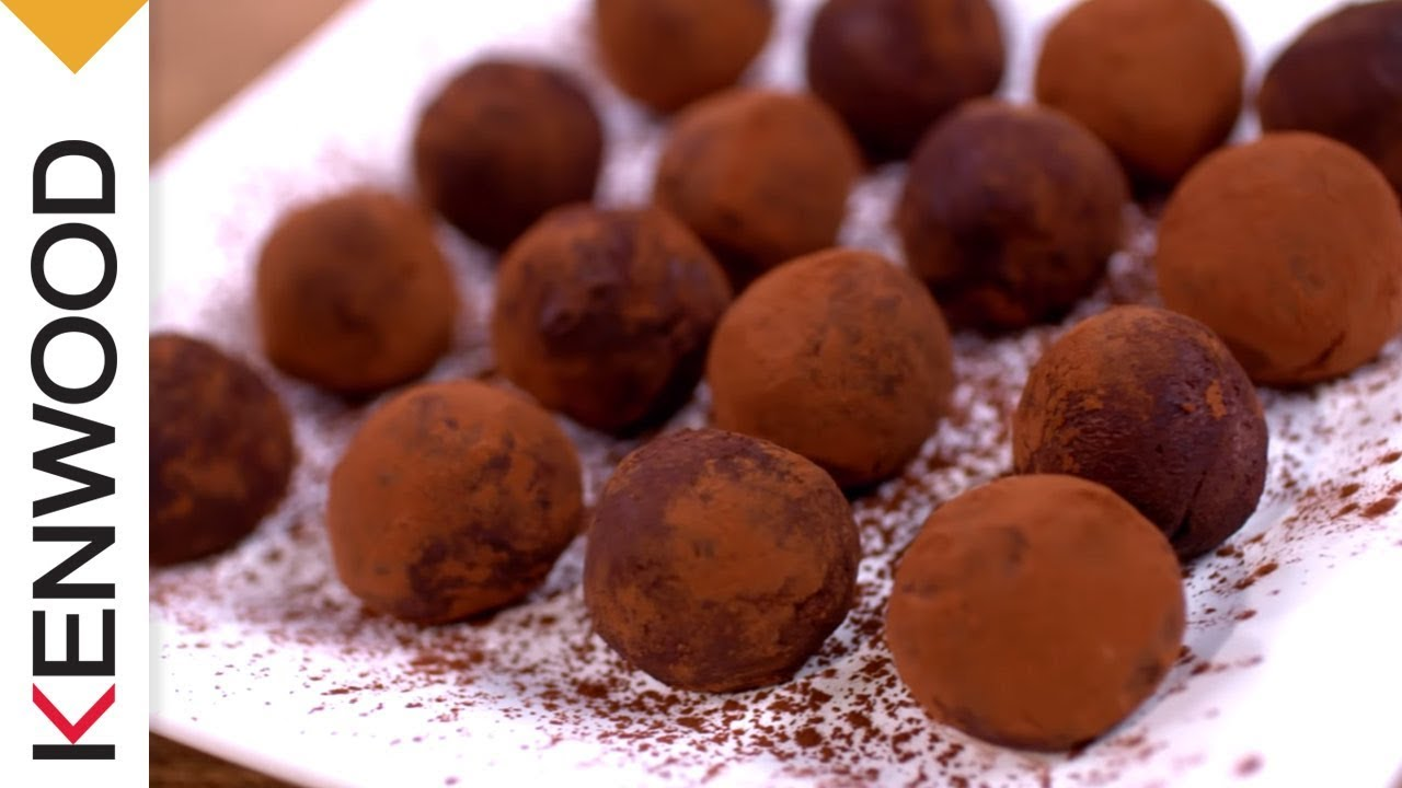 recette de truffes au chocolat avec le robot cuiseur kcook. Black Bedroom Furniture Sets. Home Design Ideas