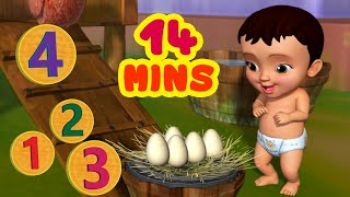 கொக்..!கொக்..! கொக்..!கொக்..! Counting Song | Tamil Rhymes for Children | Infobells