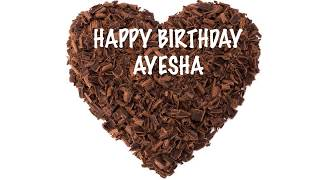 Ayesha  birthday wishes - Chocolate - Happy Birthday AYESHA