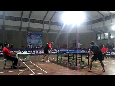 Tenis Meja 2017, Final Umum, David Jacob vs Khoirudin di Piala Koni Bondowoso