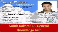 South Dakota CDL General Knowledge Test