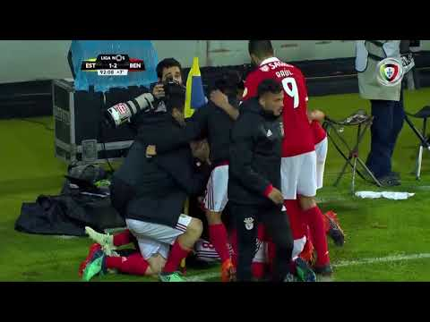 Goal | Golo Salvio: Estoril 1-(2) Benfica (Liga 17/18 #31)