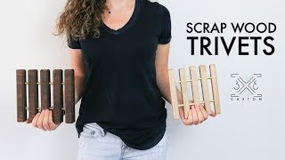 Scrap Wood Trivets // Easy DIY Project // Beginner Woodworking // Wood and Metal