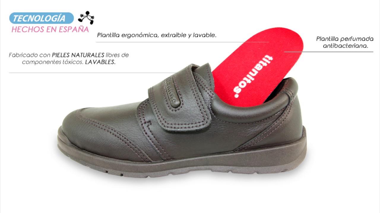 4870766210e TECNOLOGÍA TITANITOS - Zapatos colegiales de niños de piel lavable ...