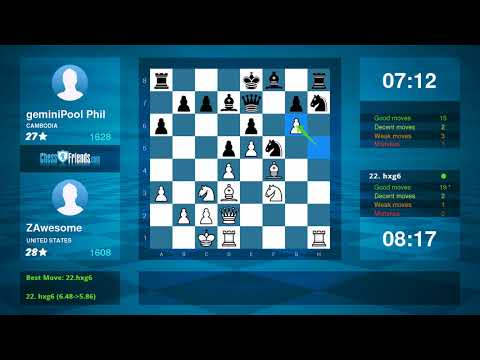 Chess Game Analysis: ZAwesome - geminiPool Phil : 1-0 (By ChessFriends.com)