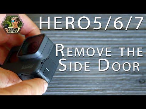 GoPro HERO 5/6/7 Black: How To Remove the Side Door