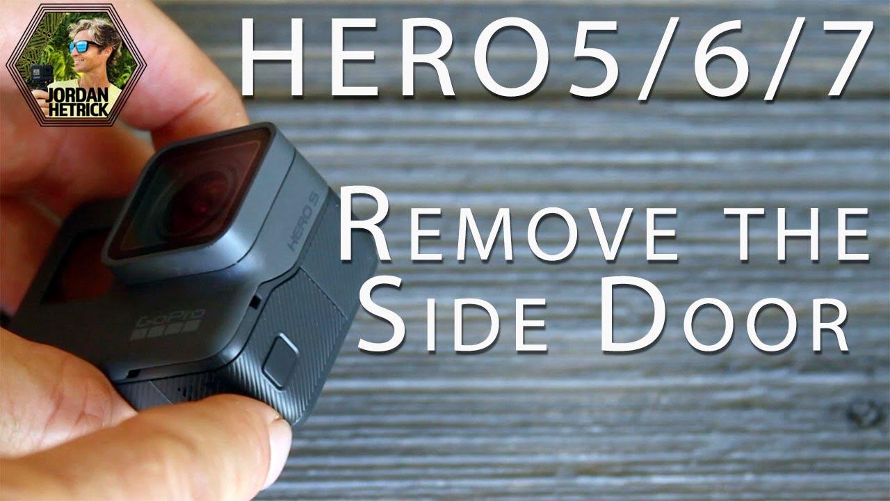 Gopro Hero 5 6 7 Black How To Remove The Side Door Youtube